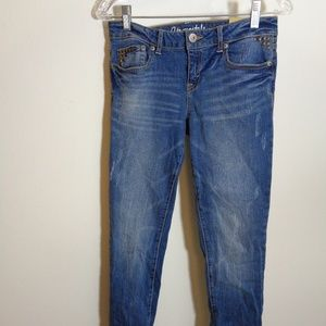 New Aero Jeans Skinny Low Rise 6 Reg. Distressed
